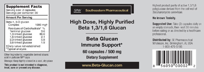 Beta Glucan 300 full label